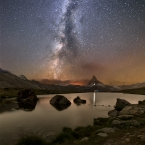 Matterhorn in the night